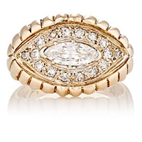 Antique Jewelry Women's White Diamond And Mixed Gold Ring No Color