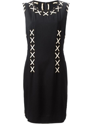 Moschino Vintage Corset Laced Dress Black