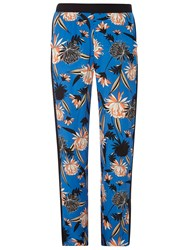 Dorothy Perkins Floral Palazzo Trousers Blue