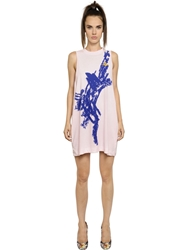 Vivienne Westwood Sleeveless Printed Cotton Jersey Dress Light Pink