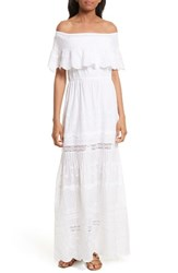 Alice Olivia Women's Pansy Off The Shoulder Maxi Dress White