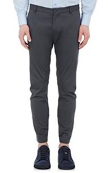 Lanvin Ankle Zip Twill Trousers Grey