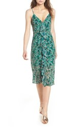 The Fifth Label Viridian Ruffle Floral Print Dress Jade Floral Bloom