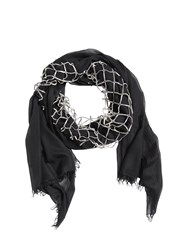 Cutuli Cult Modal Scarf With Leather Net Black Silver