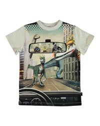 Molo Road Dinosaur And Robots Graphic Tee Size 2 10 Gray