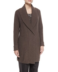 Lafayette 148 New York Shawl Collar Long Wool Cardigan