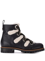 Jimmy Choo Bei Shearling Trimmed Boots Black