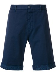 Etro Washed Bermuda Shorts Blue