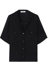 Equipment Parnella Silk Jacquard Shirt Navy