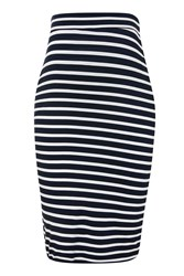 Topshop Maternity Stripe Tube Skirt Navy Blue