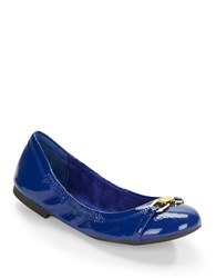Lauren Ralph Lauren Betsy Patent Leather Ballet Flats Royal Blue