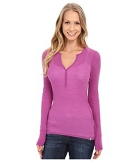 Icebreaker Butter Rib Long Sleeve Sweetpea Sweetpea Women's Long Sleeve Pullover Purple