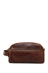Timberland Tumbled Two Tone Leather Travel Kit Brown