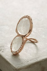 Anthropologie Moonstone Superstition Ring Gold