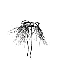 Ann Demeulemeester Blanche Feather Necklace Black