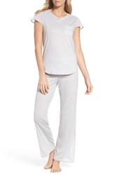 Naked Women's Cotton Pajamas Soft Gray