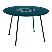 Fermob Lorette Garden Table Acapulco Blue