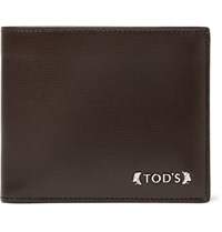 Tod's Textured Leather Billfold Wallet Dark Brown
