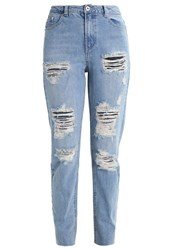 Missguided Riot Relaxed Fit Jeans Summer Blue Light Blue Denim