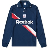 Reebok Long Sleeve Collared Training Top Blue