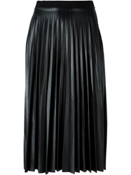 Aviu Pleated Leatherette Skirt Black