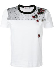 Red Valentino Embroidered Ladybug T Shirt White
