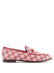 Gucci Jordaan Logo Jacquard Loafers Red Multi