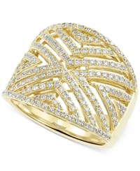 Effy Collection D'oro By Effy Diamond Geometric Ring 3 4 Ct. T.W. In 14K Gold Yellow Gold