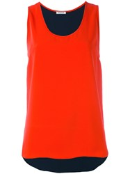 P.A.R.O.S.H. Scoop Neck Vest Women Polyester Xs Red