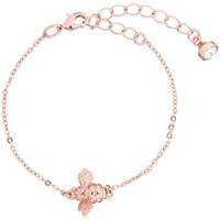 Ted Baker Beedina Swarovski Crystal Bumble Bee Chain Bracelet Rose Gold