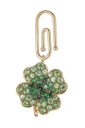 Aurelie Bidermann Fine Jewelry 18Kt Gold Clover Pendant With Tsavorites