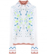 Peter Pilotto Snowflake Angora Blend Sweater White
