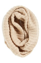 Women's Collection Xiix Ribbed Loop Scarf Beige Frosted Oatmeal