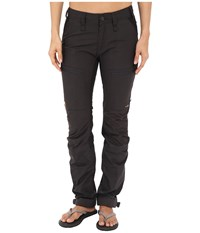 Fjall Raven Abisko Lite Trekking Trousers Dark Grey Black Women's Casual Pants Gray