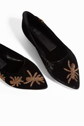 Sanayi 313 Women S Bee Embroidered Pumps Boutique1 Black