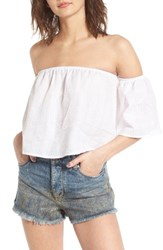 Socialite Women's Off The Shoulder Crop Top