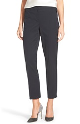 Nordstrom Zip Pocket Stretch Cotton Ankle Pants Navy Night