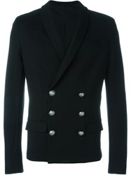 Balmain Double Breasted Cardi Blazer Black