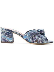 Etro Paisley Print Sandals Leather Polyester Multicolour