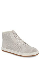 English Laundry Windsor Perforated High Top Sneaker White Suede