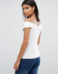 Daisy Street Off Shoulder Top White