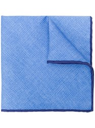 Canali Logo Pocket Square Blue