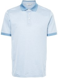 Gieves And Hawkes Patterned Polo Shirt Blue