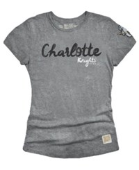 Retro Brand Women's Charlotte Knights Streaky Tri Blend T Shirt Gray