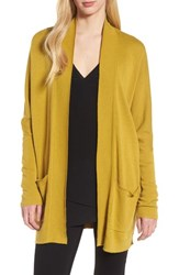 Trouve Open Front Cardigan Olive Oil