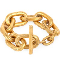 Parts Of Four Acid Wash Gold Plated Small Toggle Bracelet Acid Gold