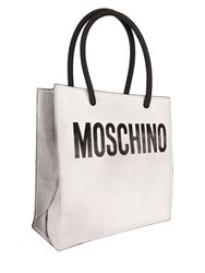 Moschino Shopping Bag Printed Leather Pouch