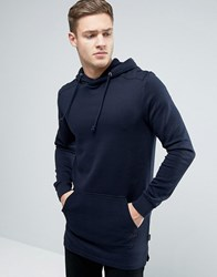 Jack And Jones Originals Oversized Longline Hoodie Navy Blazer