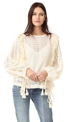 See By Chloe Crochet Lace Top Off White