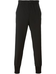 Ps Paul Smith Ribbed Hem Track Pants Black